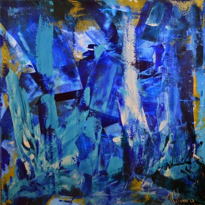 SOLD - Blue LOVE! artist Nestor Toro