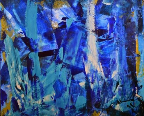 SOLD - Blue LOVE! artist Nestor Toro