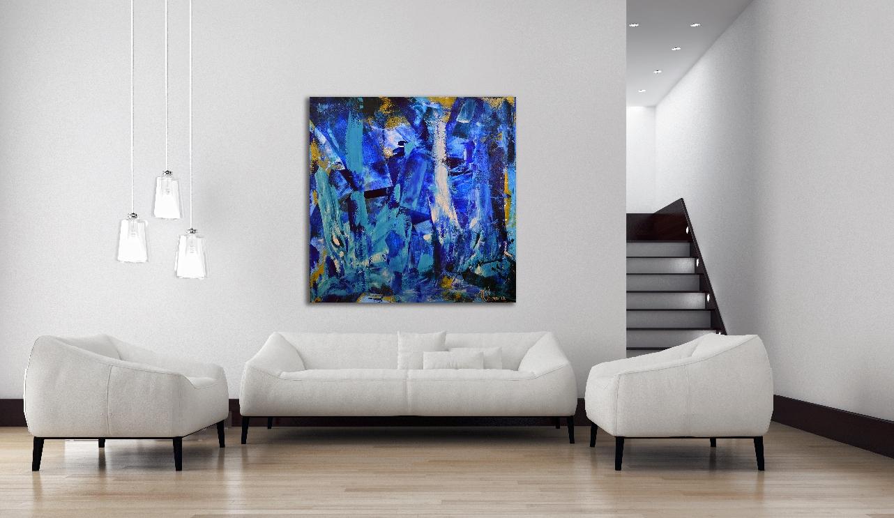 Blue LOVE! artist Nestor Toro