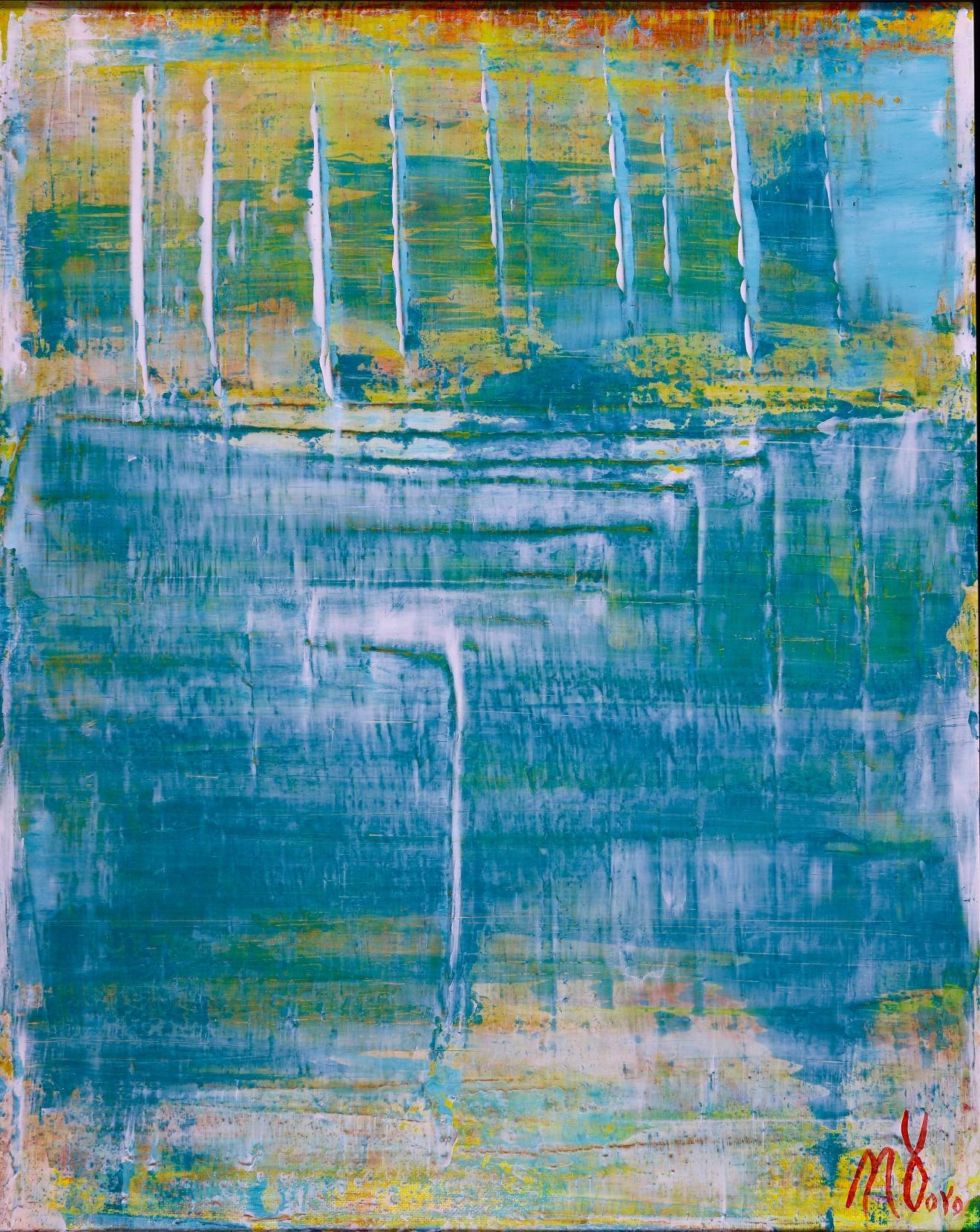 Translucent Deep Landscape - SOLD abstract art - Nestor Toro