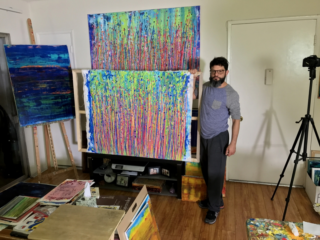 Los Angeles abstract artist - Painter Nestor Toro