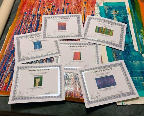 A collector in India has collected 6 works in his first order - Thank you!