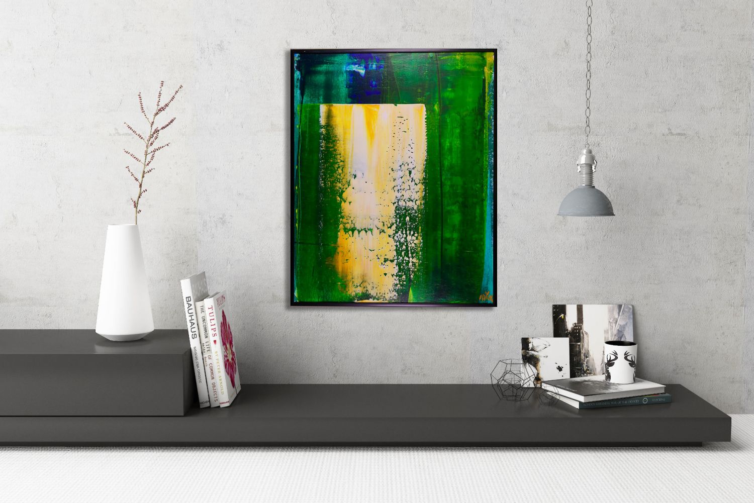 SOLD - Better Times Ahead 1 by Los Angeles - abstract artist - Nestor Toro