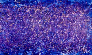 SOLD - Purple Abstract 1 (2017) Mixed Media painting by Los Angeles ABstract artist - Nestor Toro - Sold