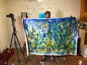 SOLD - Terra Verde by Nestor Toro L.A. Abstract Artist