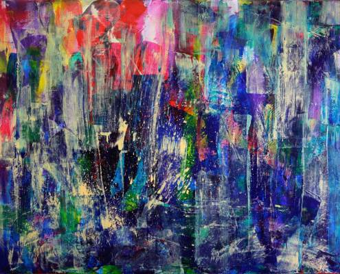 SOLD - Underwater-colorfield-SOLD-abstract-art-Nestor-Toro-Los Angeles