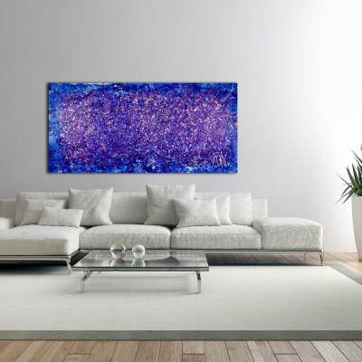 Purple Abstract 1 - SOLD Abstract painting by Nestor Toro in Los Angeles