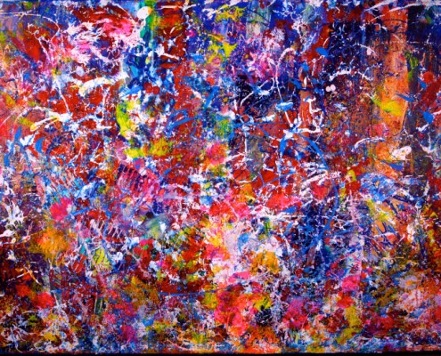 SOLD Abstract art - Footprints by Nestor Toro