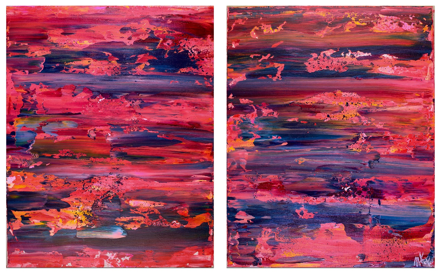 SOLD - Astray Frequencies (2017) (Triptych) by Nestor Toro
