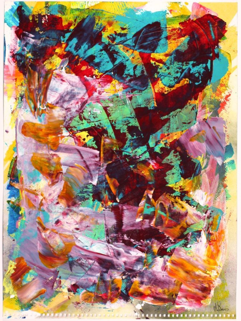 The Color Tempest by Nestor Toro - Acrylic on paper - Los Angeles