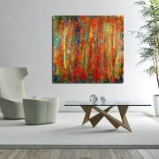 SOLD abstract art - Flying over tropics (2017) Acrylic painting by Nestor Toro - Sold