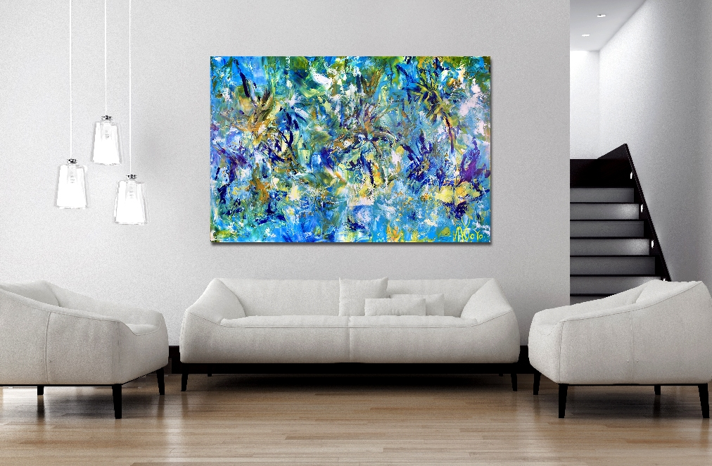 Terra Verde- Regrowth (2017) 40 x 60 inches - Acrylic painting by Nestor Toro