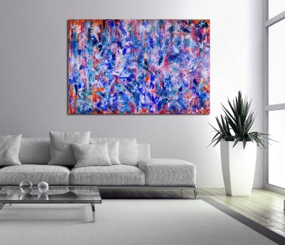 Transcendental motion -Large Scale Statement piece. (2017) 40 x 60 inches - Acrylic painting by Nestor Toro