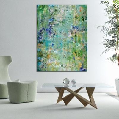 Verdor (Greenery) (2017) 48 x 36 Inches - Acrylic painting by Nestor Toro