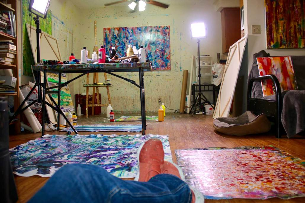 Artist Nestor Toro in his West Hollywood studio space