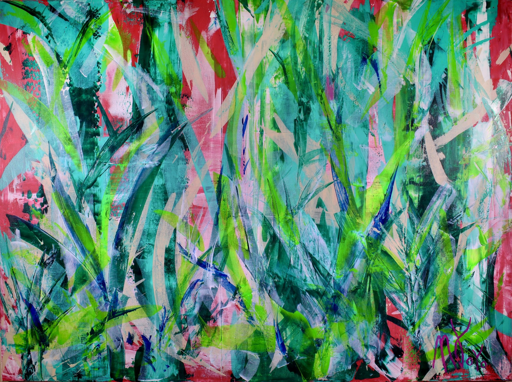 Ferns Forest | Greenery inspired by nature abstract (2018)