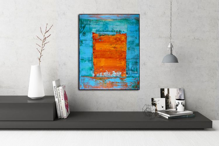 The Panoramic Window - SOLD - Abstract art by Nestor Toro