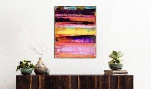 Energy Fusion 2 (2018) Acrylic painting by Nestor Toro