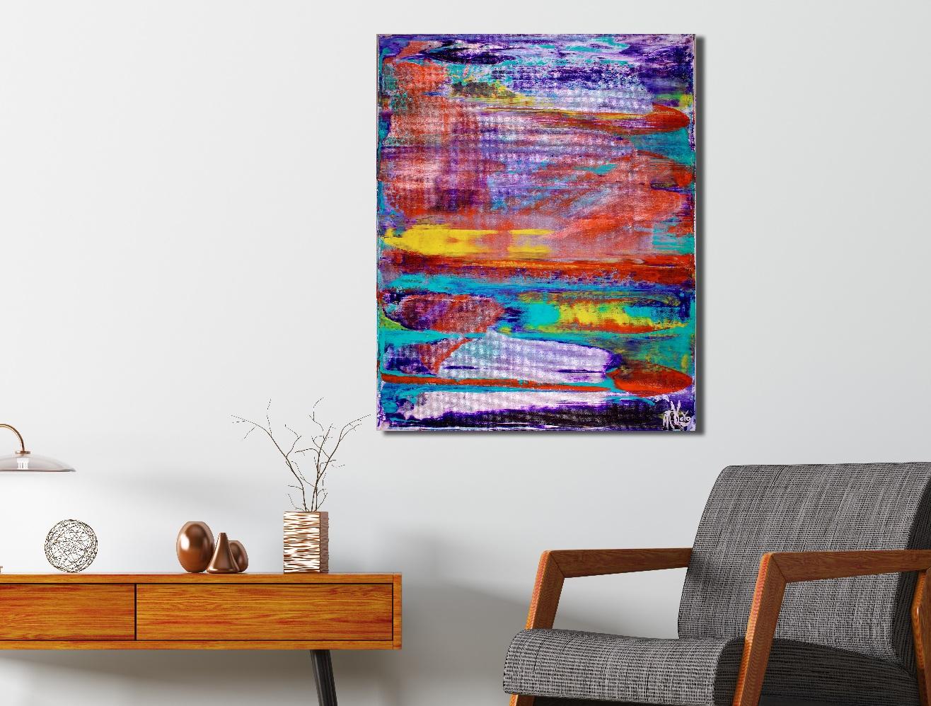 Energy Fusion 3 (2018) Acrylic painting by Nestor Toro