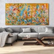 "SOLD - ""Golden Morning"" - by Nestor Toro - Signed (2017) Acrylic painting by Nestor Toro"
