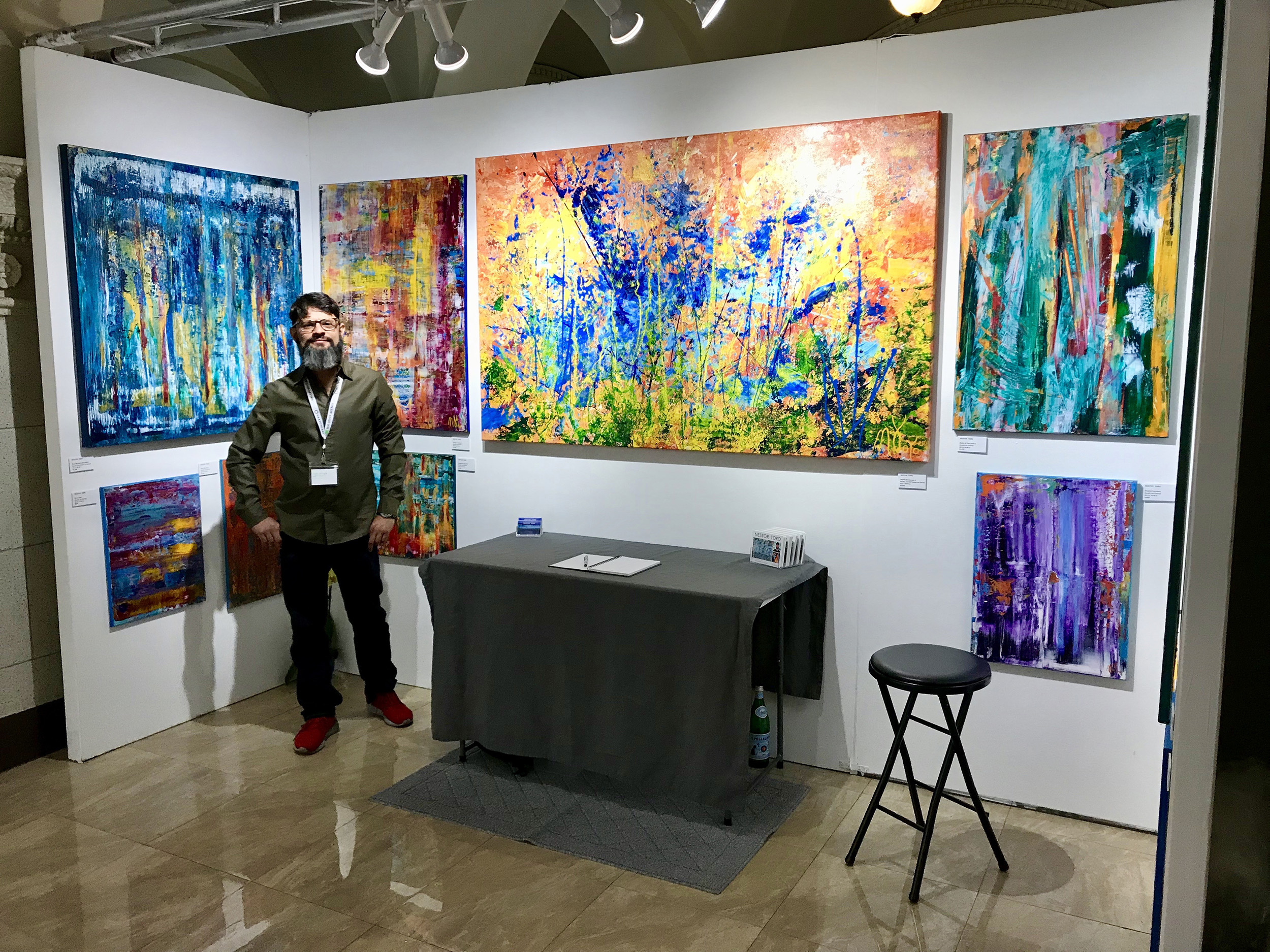 The Other Art Fair Los Angeles 2018 Abstract Art Nestor Toro Los Angeles