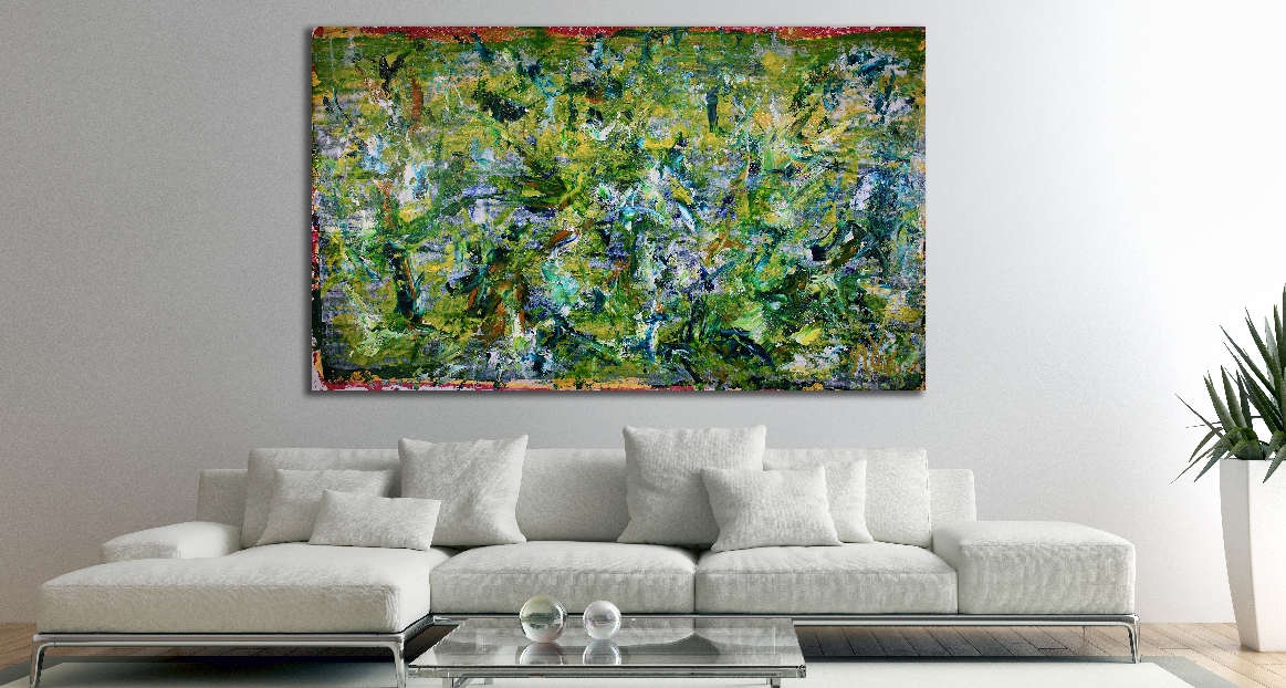 Terra Verde (Above Tree Reflections)- New for spring!!!!! (2018) Acrylic painting by Nestor Toro