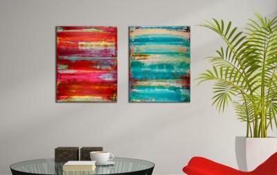 Dual Panorama - Triptych (2018) Acrylic painting by Nestor Toro