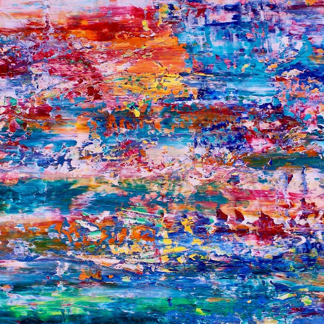Color Frenzy- Enchanted Spectra 6 (2018) Acrylic painting by Nestor Toro