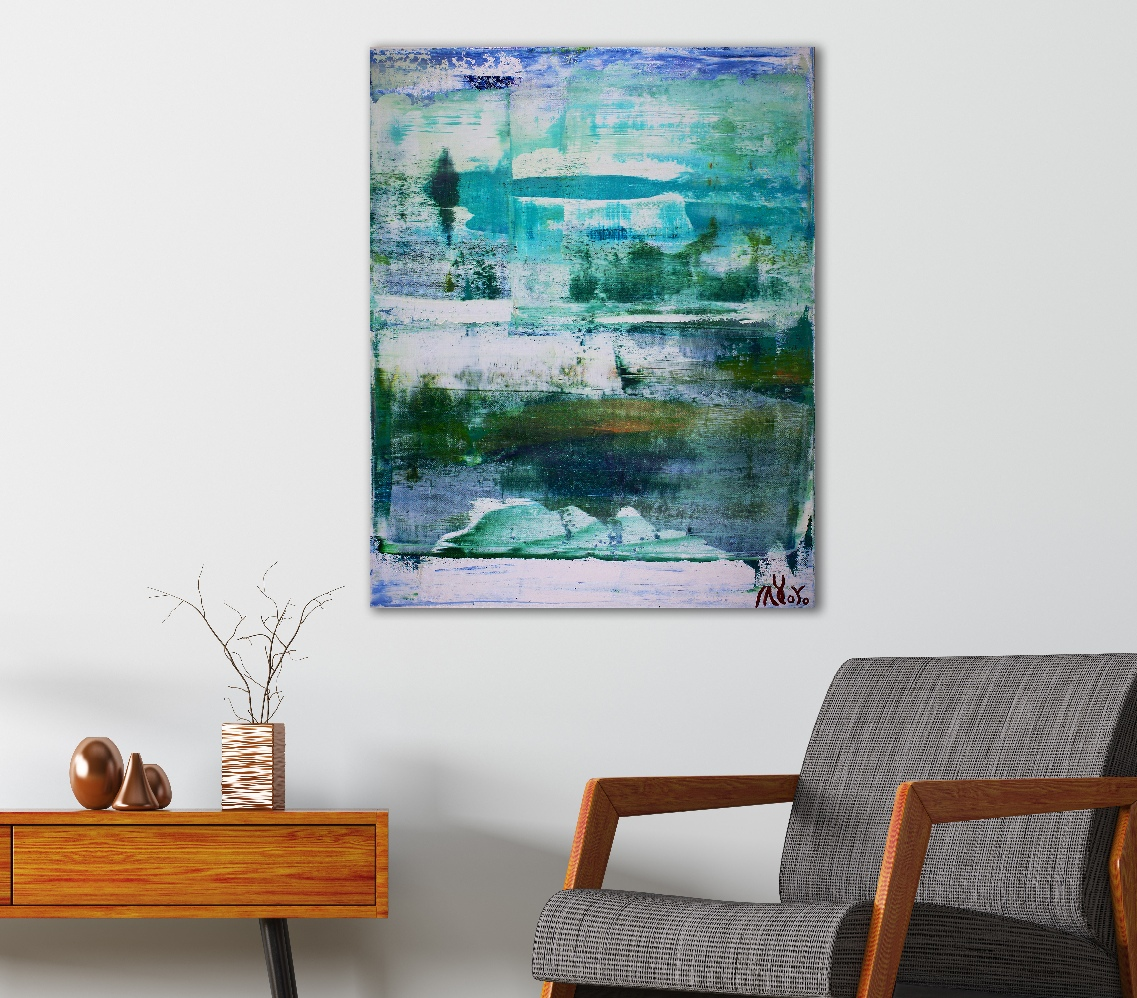 Winter melting (2018) Acrylic painting by Nestor Toro