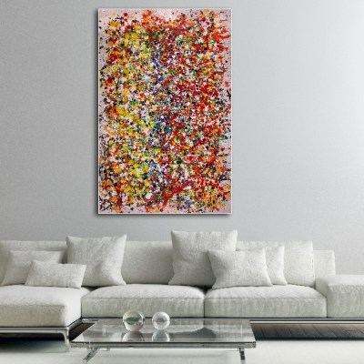 Colors migration 1 (2018) Acrylic painting by Nestor Toro