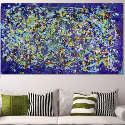 Over Luscious Purple (2018) Acrylic painting by Nestor Toro