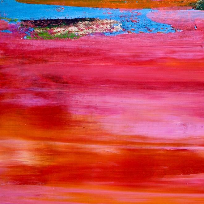 Distant Fantasy Sunrise (2018) Acrylic painting by Nestor Toro