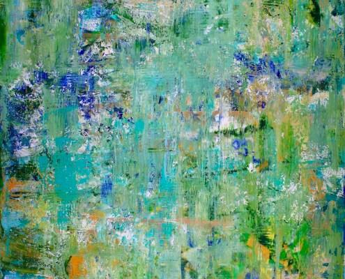 SOLD - Verdor (Greenery) (2017) Acrylic painting by Nestor Toro