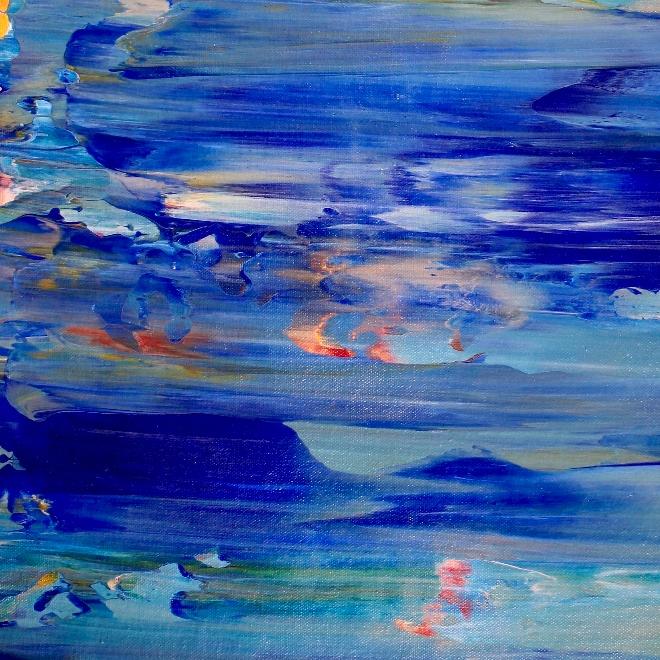 Mediterraneo (2018) Acrylic painting by Nestor Toro in Los Angeles