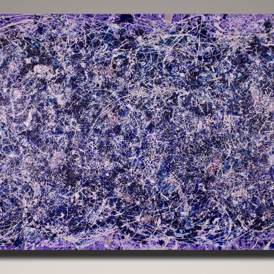 Purple Display of Affection (With Blue and Silver) (2018) Acrylic painting by Nestor Toro