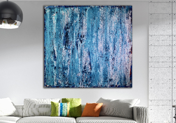 Ocean Thoughts (2018) Acrylic painting by Nestor Toro