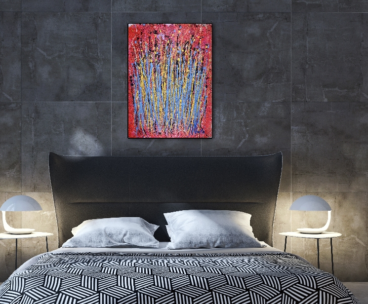 Drizzles in motion Edit Acrylic painting by Nestor Toro in Los Angeles