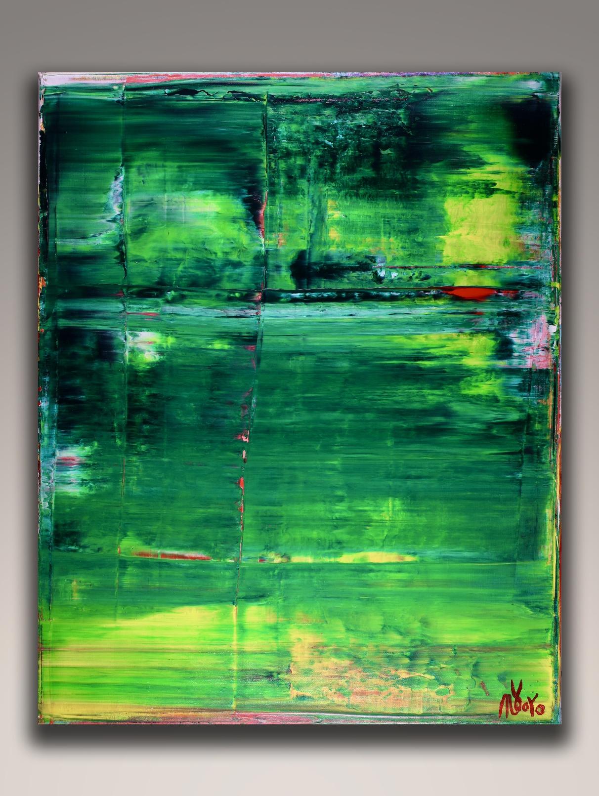 SOLD - Emerald Garden (2018) Acrylic painting by Nestor Toro