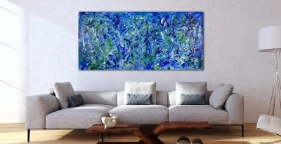 Forest in Blue (2018) Acrylic painting by Nestor Toro