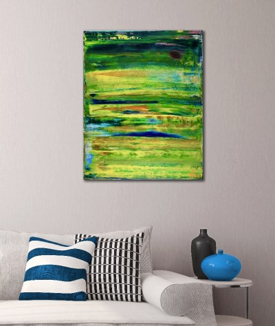 SOLD - Sky walking 6 (2018) Abstract painting by Nestor Toro
