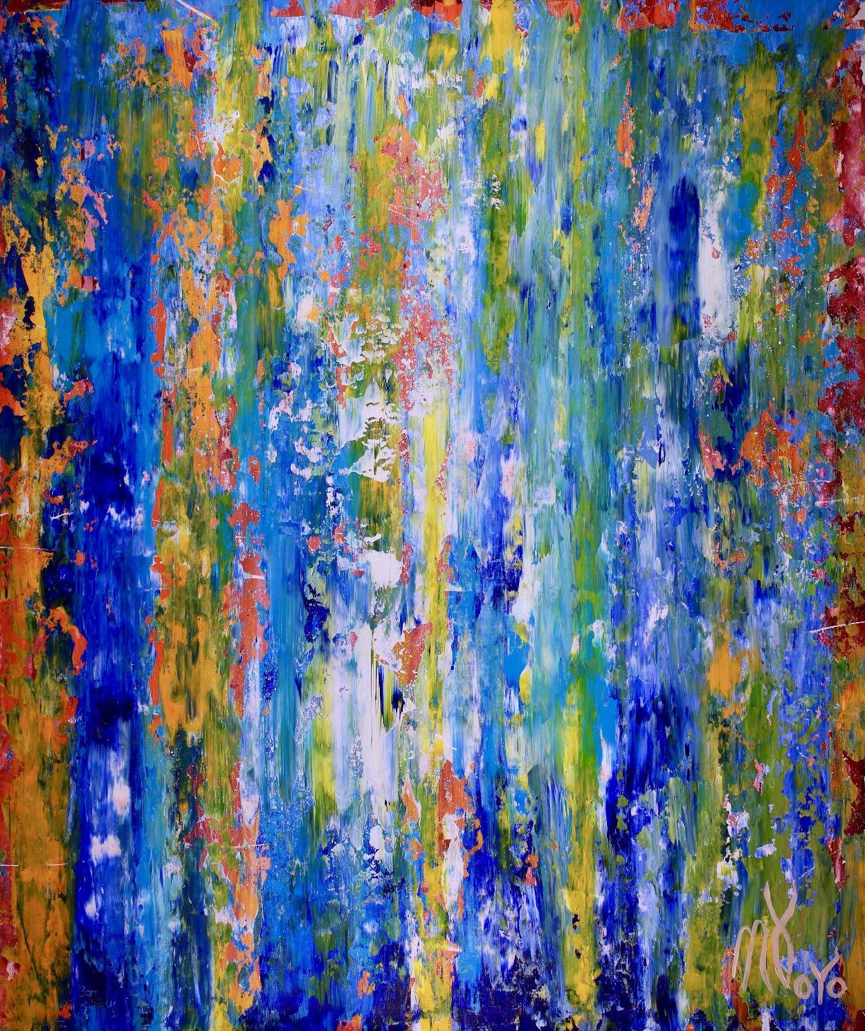 Organic Color Fusion 2 (2018) Acrylic painting by Nestor Toro