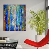Room View - Organic Color Fusion 2 (2018) Acrylic painting by Nestor Toro
