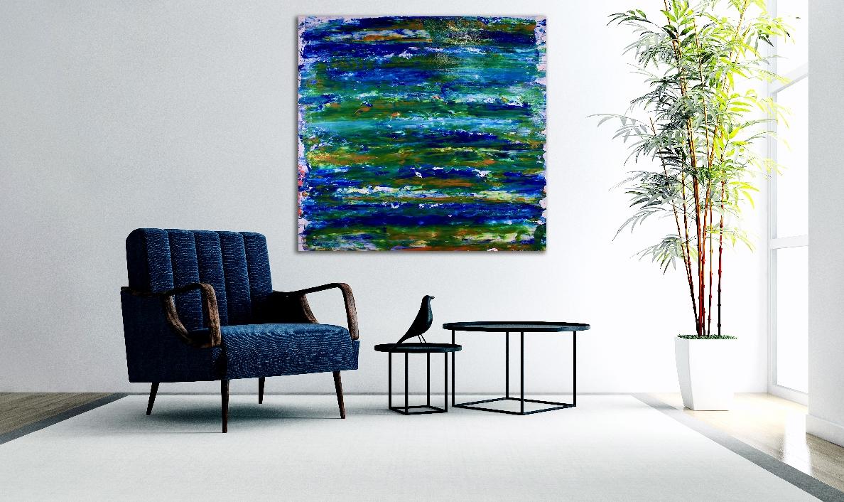 Visionary Terrain 5 (2018) Acrylic painting by Nestor Toro in Los Angeles