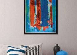 SOLD - Orange Windows (2018) by Nestor Toro - SOLD