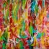Gestural Color Splash (2018) abstract art painting by Nestor Toro