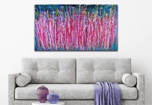 Awakening (2018) abstract art acrylic painting by Nestor Toro