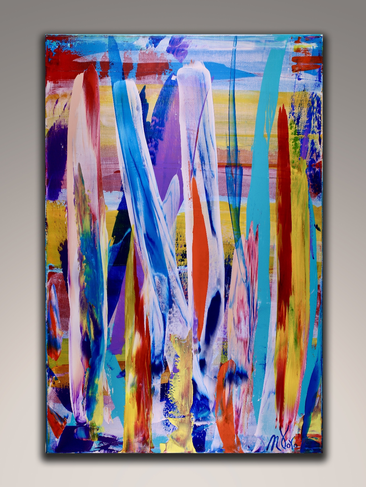 Competing for the Sun 2 by Nestor Toro (2018) Abstract art - Acrylic painting by Nestor Toro