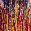 Detail - Momentum (2018) Abstract Art Acrylic painting by Nestor Toro