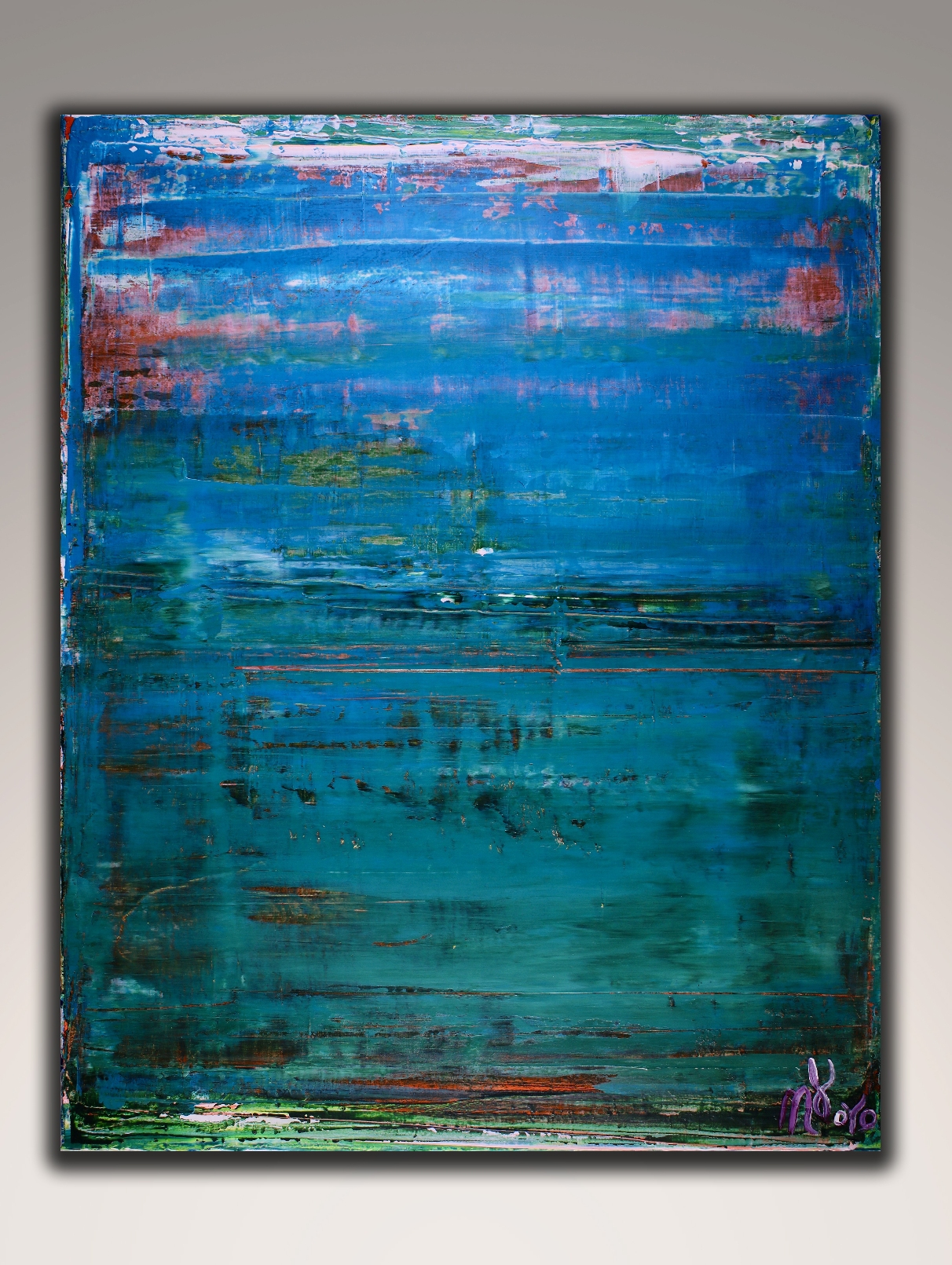 Maritime Spectra 2 by Nestor Toro (2018) abstract art Acrylic painting