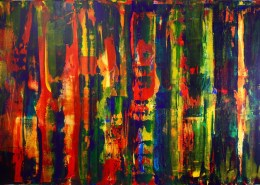 SOLD - Flares- Bold Landscape (2015) abstract art Acrylic painting by Nestor Toro Sold